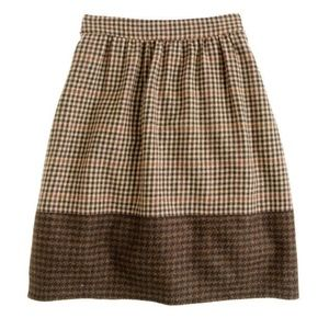 J. Crew Houndstooth Wool Mini Skirt Size 8 New